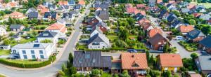 Wohnsiedlung von oben in Deutschland