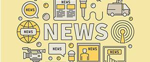 Darstellung von Medien, die Neuigkeiten übermitteln