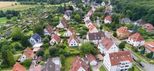 Deutsche Gemeinde von oben