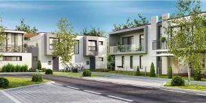 Einfamilienhäuser in Wohnsiedlung
