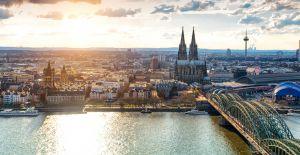 Köln Panorama mit Domblick