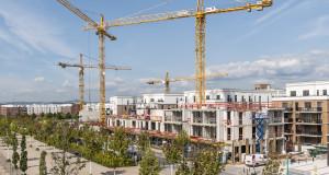 Neubauimmobilien im Bau