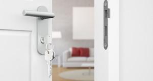 Schlüssel in Tür