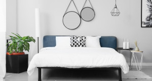 Schlafzimmer in weiß