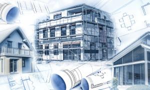 Visualisierung eines Neubaus