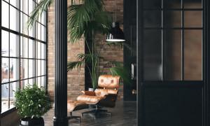 Sitzecke in einer modernen Wohnung