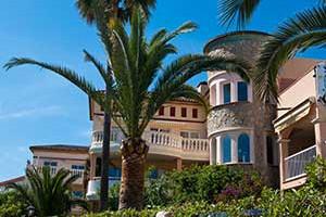 Villa Mallorca mit Palmen