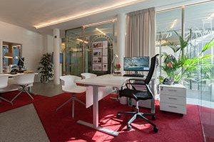 Arbeitsplatz Immobilienbüro