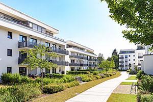 Mehrfamilienhäuser Siedlung