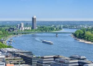 Blick auf Leverkusen