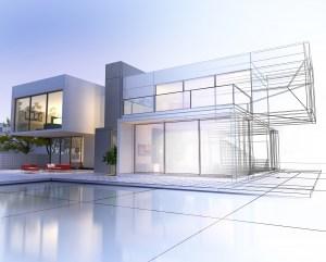 Plan einer Villa