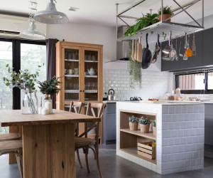 Rustikale Küche in Merseburg