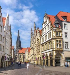 Münster Prinzipalmarkt und Lambertikirche