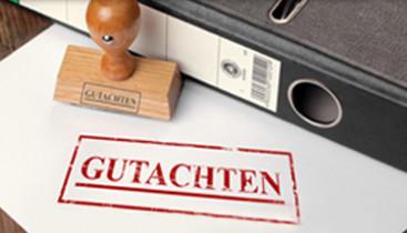"""Stempel """"Gutachten"""""""