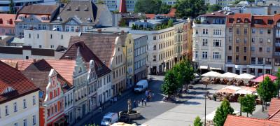 Blick auf Altmarkt Cottbus