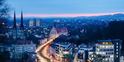 Bielefeld am Abend