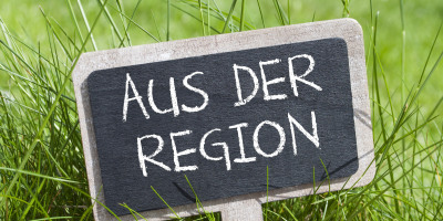 Schild Aus der Region