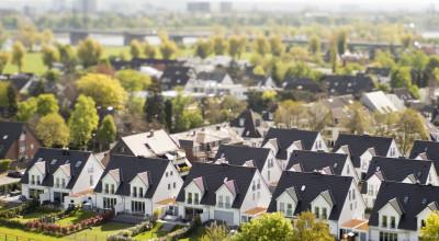 Siedlung mit Mehrfamilienhäusern