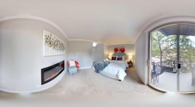 Schlafzimmer 360-Grad Aufnahme