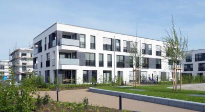 Moderne Mehrfamilienhaus-Siedlung