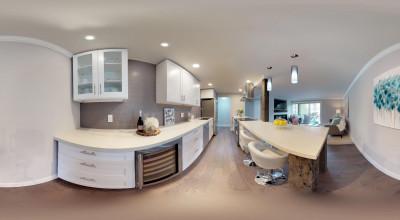 Panoramabild einer Küche