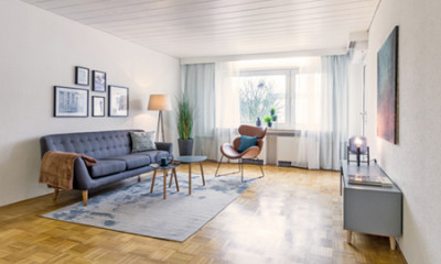 Home-Staging modernes Wohnzimmer