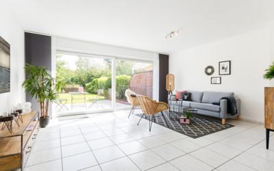 Home-Staging modernes Wohnzimmer nachher