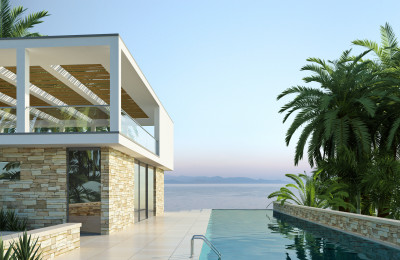Villa am Meer mit Pool