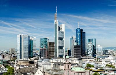 Frankfurter Cityscape bei Tag