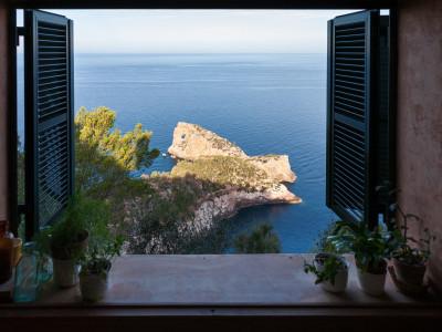 Ausblick auf Küste und Meer