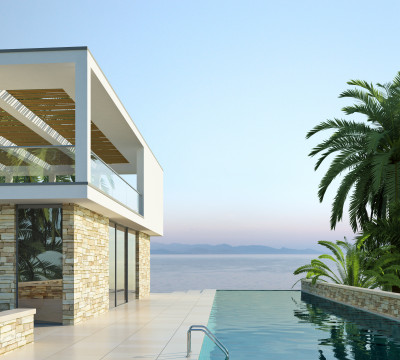 Villa am Meer mit Pool