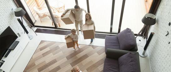 Familie Umzug Wohnbereich