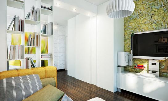 Moderne farbenfrohe Wohnung