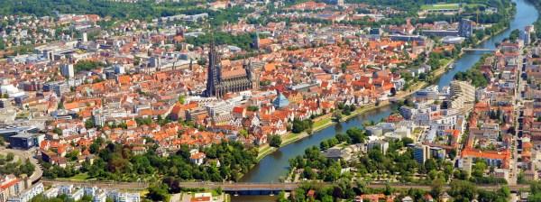 Luftaufnahme von Ulm