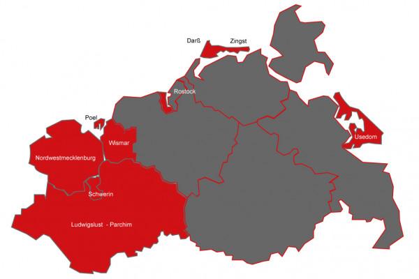 Geschäftsgebiet Karte