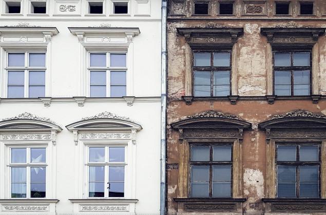 Haus vor und nach Renovierung