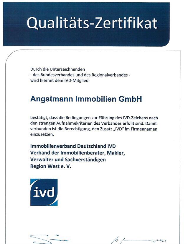 Qualitätszertifikat ivd