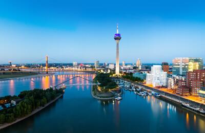 Luftbildaufnahme von Düsseldorf