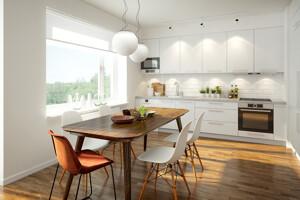 3D-modellierte Küche