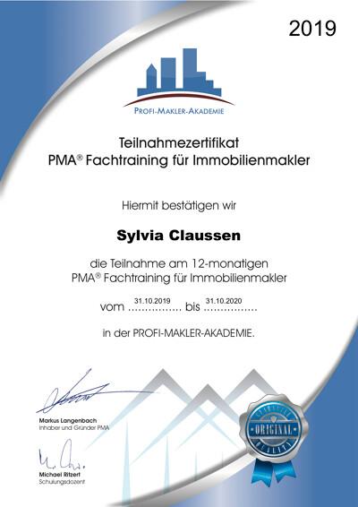 Zertifikat über die Teilnahme an der Fachfortbildung