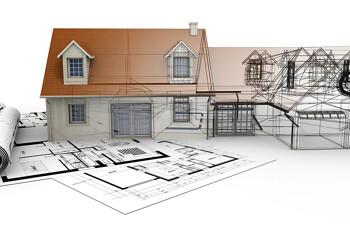 Skizze einer Immobilie von der Planung bis zur Umsetzung
