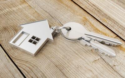 Schlüssel mit Hausanhänger