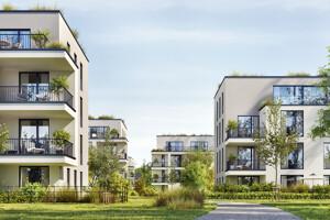 Blick auf das neue Wohngebiet