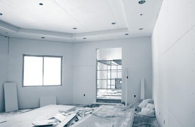 Wohnung, die renoviert wird