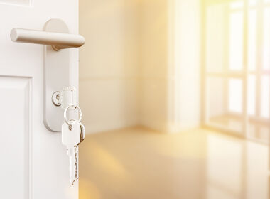 Schlüssel in Zimmertür