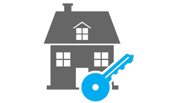 Haus und Schlüssel Icon
