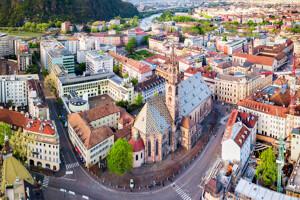 Veduta aerea di Bolzano
