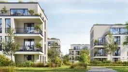 Moderne Wohnsiedlung