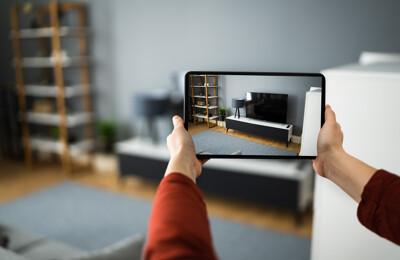 Foto auf einem Tablet