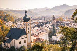 Altstadt Waidhofen an der Ybbs Herbst Mostviertel Niederösterreich